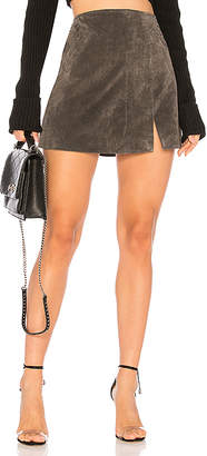 c2766352f792 Leather And Fabric Skirt - ShopStyle