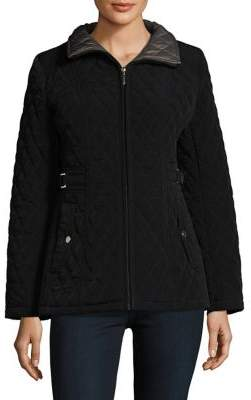Gallery Petite Quilted Zip-Front Jacket