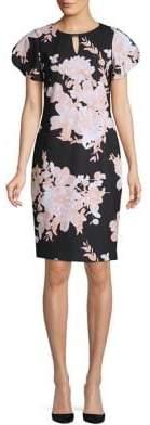 Calvin Klein Printed Flutter Sleeve Dress