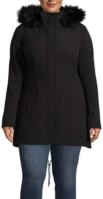 A.N.A Woven Hooded Water Resistant Midweight Softshell Jacket-Plus