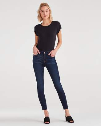 7 For All Mankind Slim Illusion High Waist Ankle Skinny in Tried and True