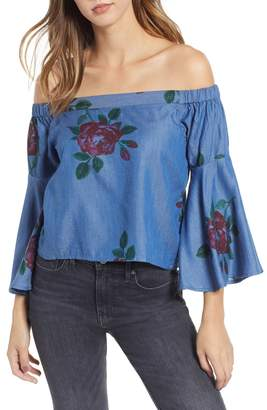 Amuse Society Feelin Rosy Off The Shoulder Top