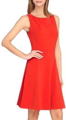 Women's Tahari Seamed Knit Fit & Flare Dress $128 thestylecure.com