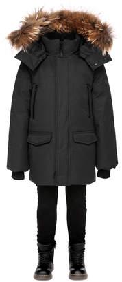 Mackage Jo Winter Down Knee Length Coat With Fur