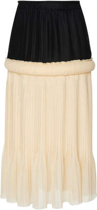 Knife Pleated Gauze Skirt