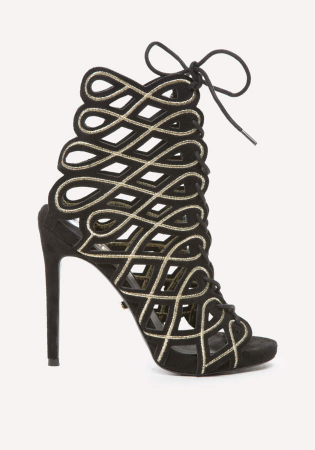 Kimmie Swirl Cage Booties