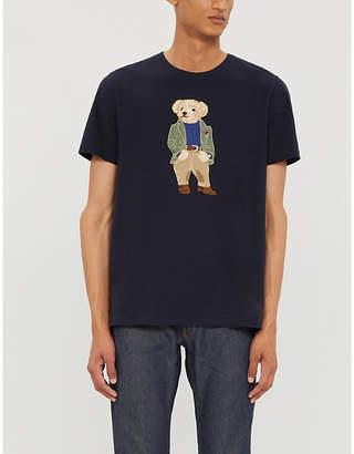 Ralph Lauren Purple Label Bear print cotton-jersey T-shirt