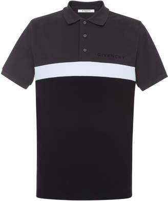 Givenchy Striped Printed Cotton-Pique Polo Shirt