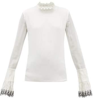 Chloé Ruffled Silk Georgette Blouse - Womens - White