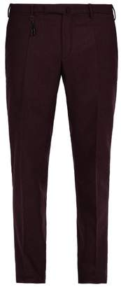 Incotex Slim Leg Wool Trousers - Mens - Burgundy