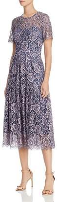 Eliza J Short Sleeve Fit & Flare Lace Dress