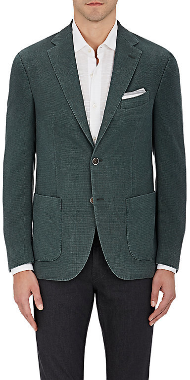 Barneys New York Barneys New York Men's Wool Hopsack Two-Button Sportcoat