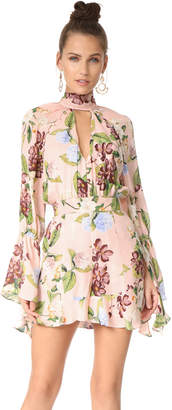 Nicholas Evie Floral Bell Sleeve Romper $650 thestylecure.com