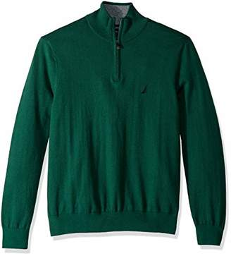 Nautica Men's Long Sleeve 1/4 Zip Sweater