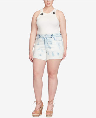 Jessica Simpson Trendy Plus Size Denim Shorts