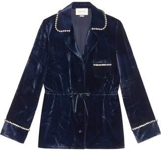 Gucci Velvet pajama shirt