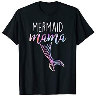 MerMom Mermaid Mama For Birthday Party Shirt For Women