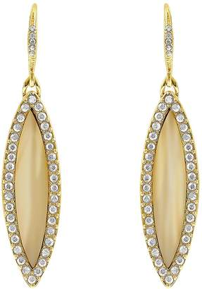 Adore Pave Navette Crystals Drop Earrings