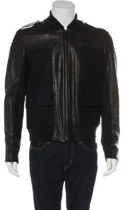 Maison Margiela Leather & Wool Utility Jacket