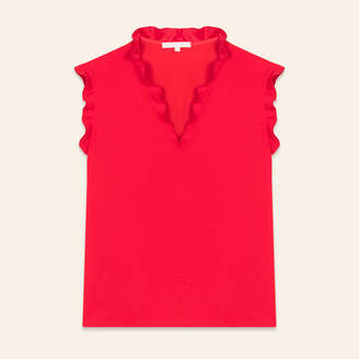 Maje Frilled sleeveless top