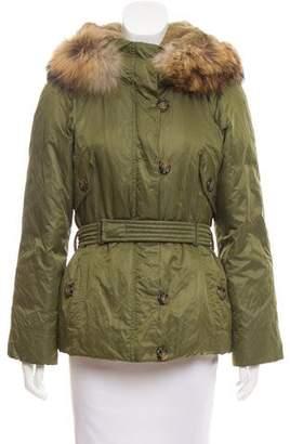 Max Mara Fur-Trimmed Puffer Coat