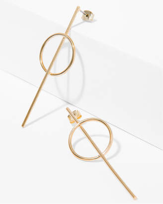 7 For All Mankind Wanderlust + Co Full Circle Earrings in Gold