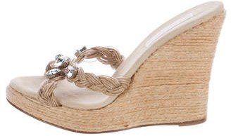 MICHAEL Michael KorsMichael Kors Embellished Wedge Sandals