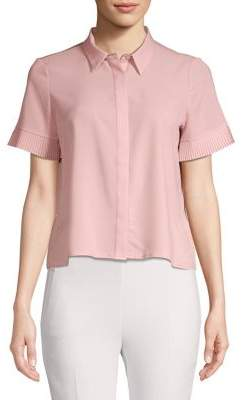 French Connection Short-Sleeve Chiffon Blouse