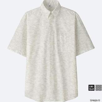 UNIQLO Men's U Broadcloth Printed Short-sleeve Shirt $29.90 thestylecure.com