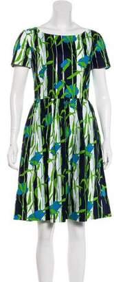 Oscar de la Renta Printed A-Line Dress