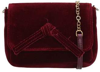 L'Autre Chose Burgundy Velvet Mini Bag