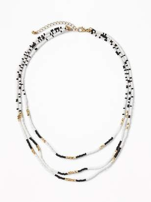 Old Navy Beaded Statement Necklace for Women