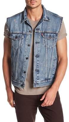 Levi's The Trucker Splatter Paint Vest