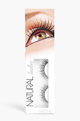 boohoo NEW Womens-Technic Natural False Eyelashes in Black size One Size