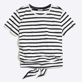 J.Crew Factory Striped tie-back T-shirt
