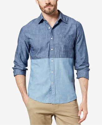 Dockers Men Slim-Fit Color-block Chambray Shirt