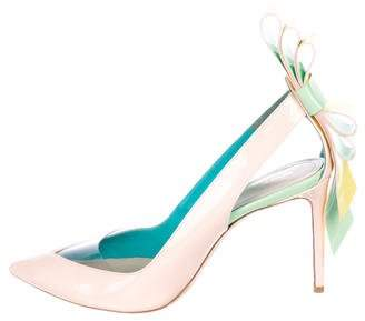Nicholas Kirkwood Patent Leather Origami Pumps