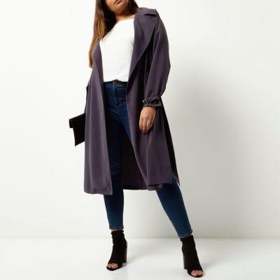 River IslandRiver Island Womens Plus grey duster trench coat