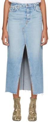 GRLFRND Blue Isla Midi Skirt