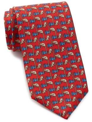 Thomas Pink Monkey Print Silk Tie