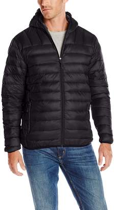 Hawke & Co Men's Big-Tall Hooded Down Packable Jacket