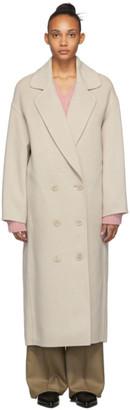 Mansur Gavriel Beige Wool Oversized Coat