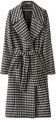 La Redoute Collections Houndstooth Check Belted Coat