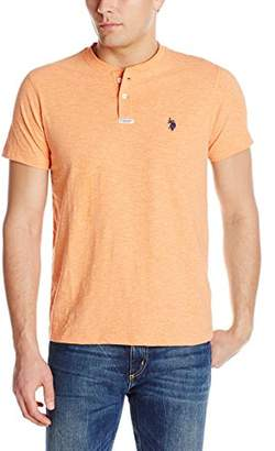 U.S. Polo Assn. Men's Slim Fit Slub Space Dyed Henley T-Shirt
