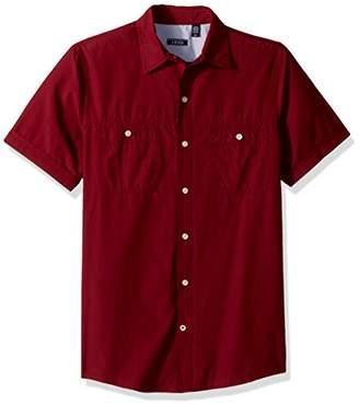 Izod Men's Saltwater Breeze Solid Short Sleeve Shirt