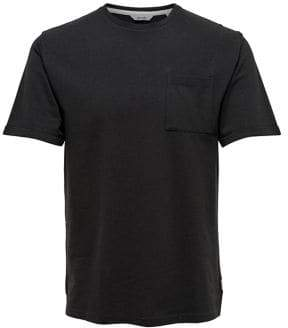 ONLY & SONS Melange Pique Cotton Tee