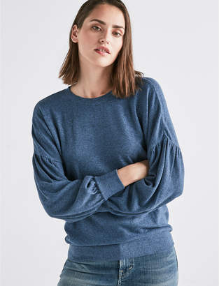 Lucky Brand CLOUD JERSEY DROP SHOULDER PUFF SLEEVE SWEATSHIRT