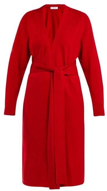 Ryan Tie Waist Cashmere Cardigan - Womens - Red