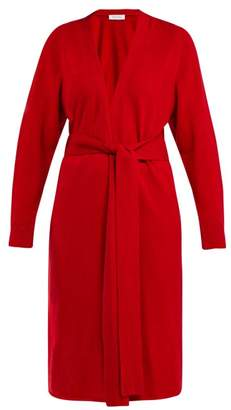 Roche Ryan Tie Waist Cashmere Cardigan - Womens - Red