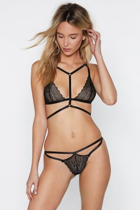 Nasty Gal Dance For You Strappy Bralette and Thong Set